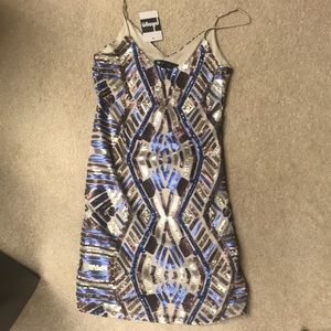 Hot & Delicious Sequin Short Cocktail Dress Small